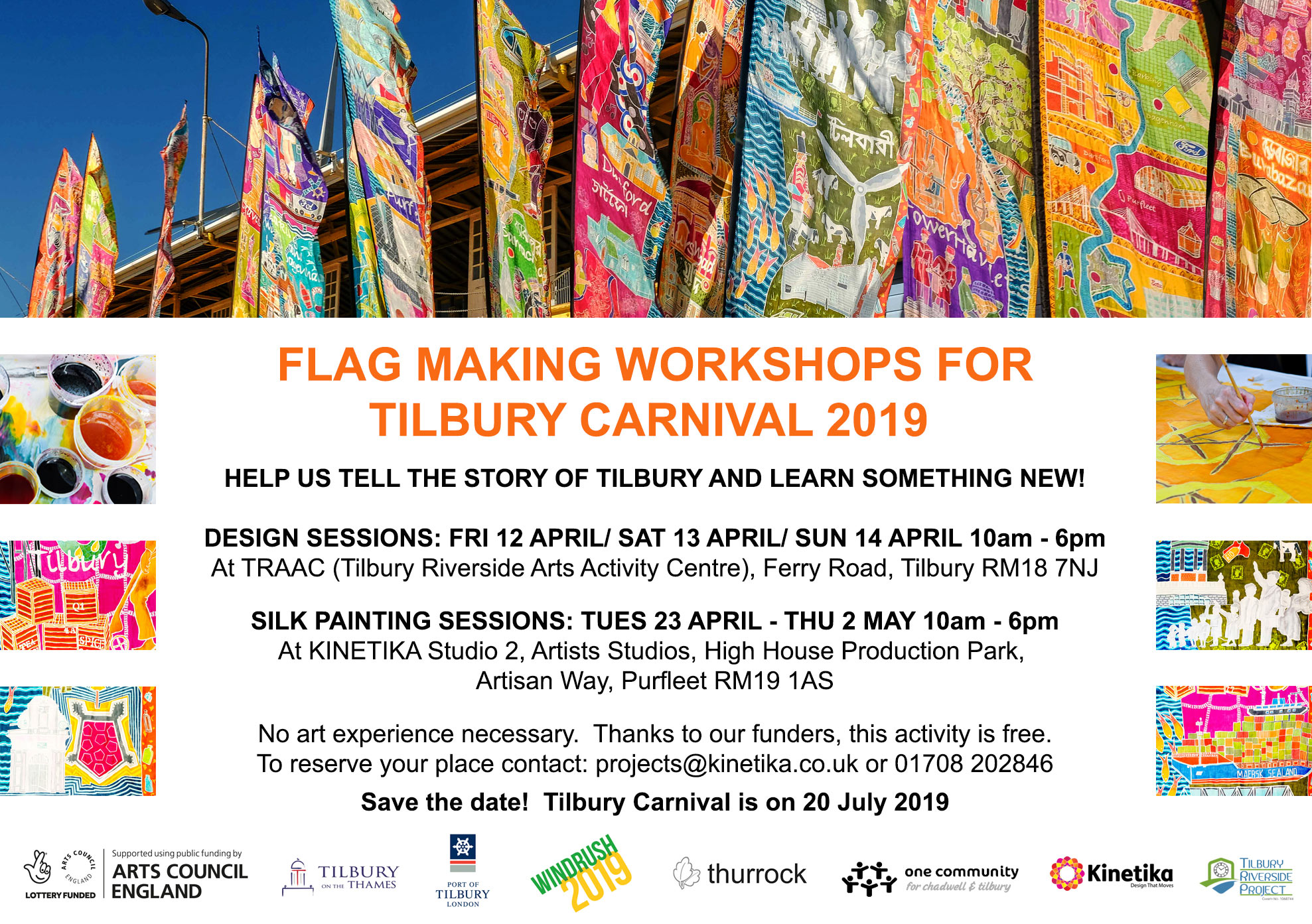 Tilbury Carnival 2019 – Flag Making Workshops